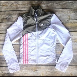Adidas 3 Stripe Zip Front Jacket